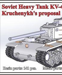 1/72 Soviet Heavy Tank KV-4, Kruchenykh's proposal