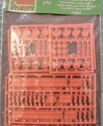 1/72 Chassis correction set for M-48,Torsion arms, road wheels, return rollers and T97E2 tracks