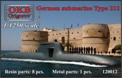 1/1250 German submarine Type 212