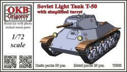 1/72 Soviet Light Tank T-50, with simplified turret