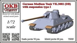 1/72 German Medium Tank VK.3002 (DB) with susspension type I (V72089)