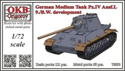 1/72 German Medium Tank Pz.IV Ausf.L, 9./B.W. development