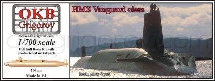HMS Vanguard class submarine