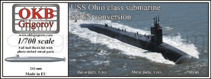 1/700 USS Ohio class submarine,SSGN conversion