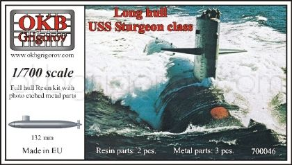 1/700 Long hull USS Sturgeon class submarine