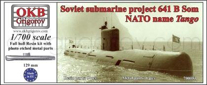 1/700 Soviet submarine project 641 B Som (NATO name Tango)