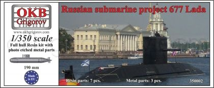 1/350 Russian submarine project 677 Lada