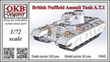 1/72 British Nuffield Assault Tank A.T.1