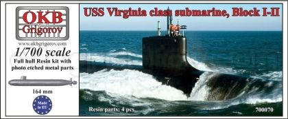 1/700 USS Virginia class submarine, Block I-II
