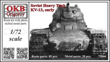 1/72 Soviet Heavy Tank KV-13, early
