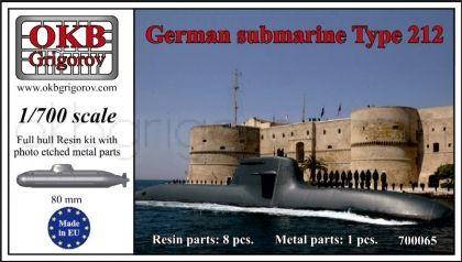 1/700 German submarine Type 212