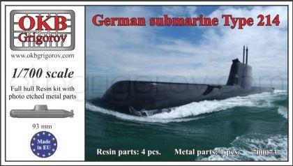 1/700 German submarine Type 214