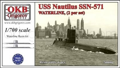 USS Nautilus SSN-571,WATERLINE, (2 per set)