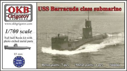 1/700 USS Barracuda class submarine