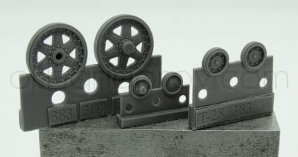 1/72 Wheels for T-28, early
