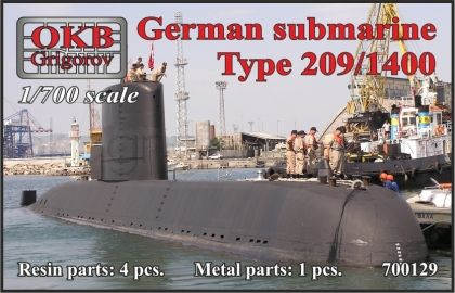 1/700 German submarine Type 209/1400