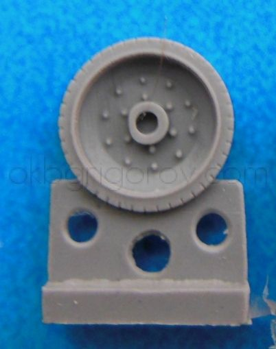1/72 Wheels for T-34,10 bolts, late production, bandage with pattern