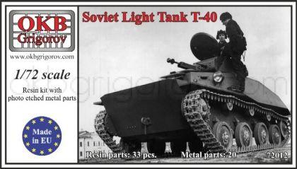 Soviet Light Tank T-40