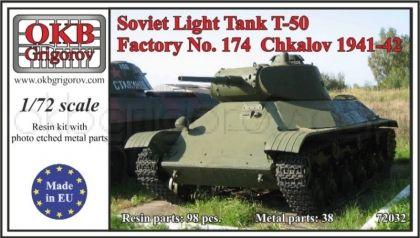 1/72 Soviet Light Tank T-50, Factory No. 174  Chkalov 1941-42