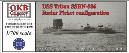 USS Triton SSRN-586, Radar Picket configuration