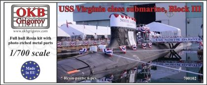 1/700 USS Virginia class submarine, Block III
