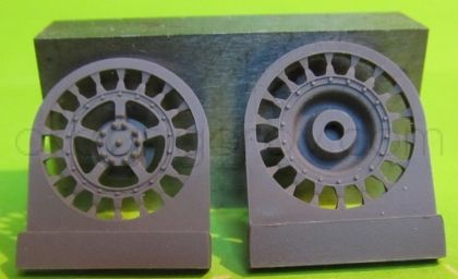 1/72 Sprockets for Tiger II,Jagtiger,E50,E75,Lowe, 18 tooth type 2