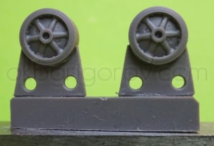 1/72 Wheels for M4 family, VVSS stamped spoke