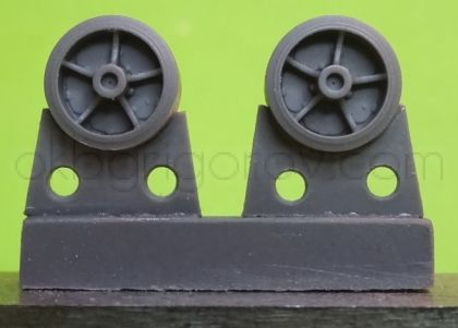 1/72 Wheels for M4 family, VVSS open spoke with TB ORD 22 applied