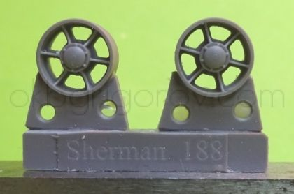 1/72 Idler wheels for M4 family, VVSS open spoke