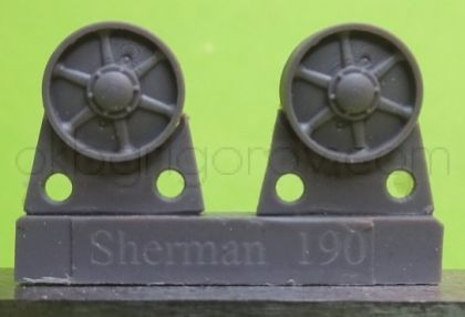 1/72 Idler wheels for M4 family, VVSS stamped spoke
