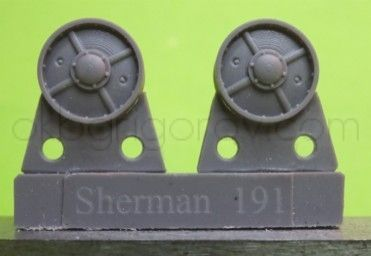 1/72 Idler wheels for M4 family, VVSS four spoke French type