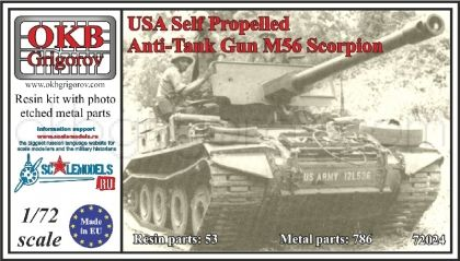USA Self Propelled Anti-Tank Gun M56 Scorpion