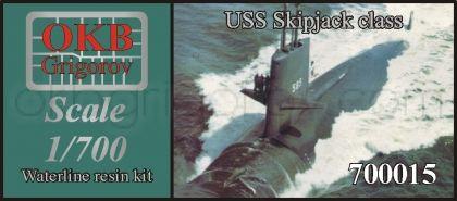 USS Skipjack class submarine, WATERLINE, (2 per set)