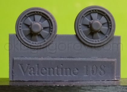 1/72 Wheels for Valentine, type 2