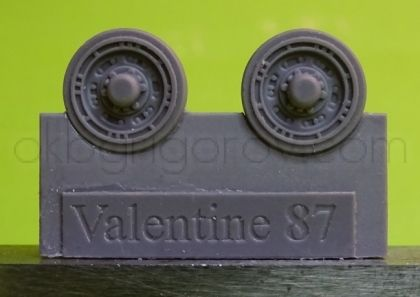 1/72 Wheels for Valentine, type 1