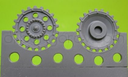 1/72 Sprockets for Pz.III, early without hub cap