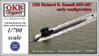USS Richard B. Russell SSN-687, early configuration