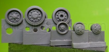 1/72 Wheels for M4 family, HVSS