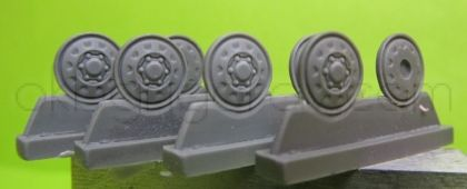 1/72 Wheels for T-64, type 1