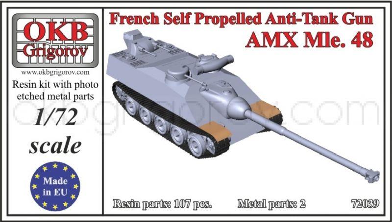 French Self Propelled Anti-Tank Gun AMX Mle 48