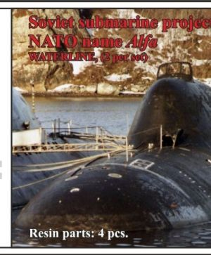 Soviet submarine project 705K Lira (NATO name Alfa),WATERLINE, (2 per set)