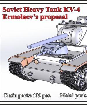 1/72 Soviet Heavy Tank KV-4, Ermolaev's proposal