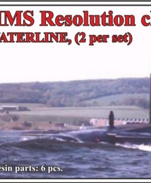 HMS Resolution class submarine,WATERLINE, (2 per set)