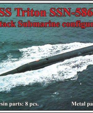 1/700 USS Triton SSN-586, Attack Submarine configuration