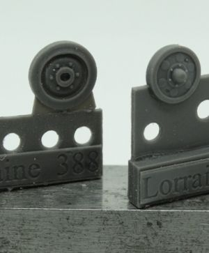 1/72 Wheels for Lorraine Schlepper, type 2