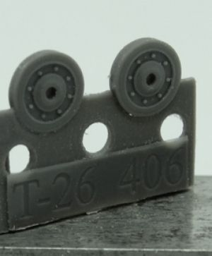 1/72 Wheels for T-26, late