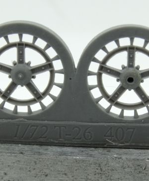 1/72 Idler wheel for T-26, early
