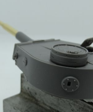 1/72 Turret for Pz.V Panther, 2 cm Flakvierlin, Rheinmetall proposal
