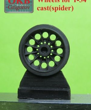 1/72 Wheels for T-34,cast(spider)