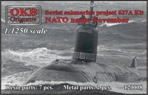 1/1250 Soviet submarine project 627A Kit (NATO name November)